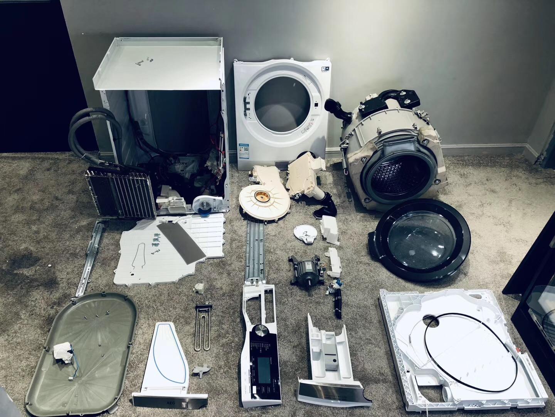 AEG 9000系列热泵洗干一体机LWX8C1612H拆机测评